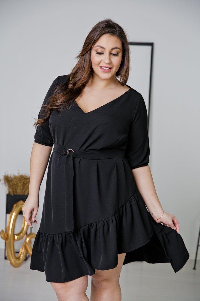 Czarna Sukienka ELENA Plus Size