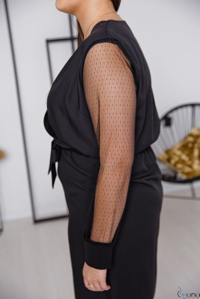 Czarna Sukienka ENJA Plus Size