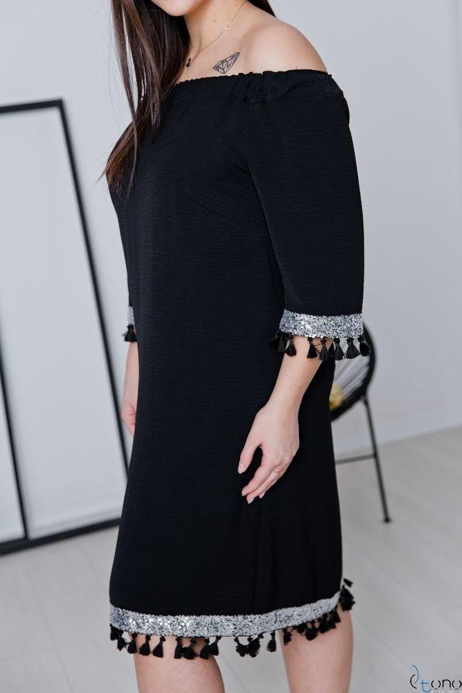 Czarna Sukienka FEREZO Plus Size
