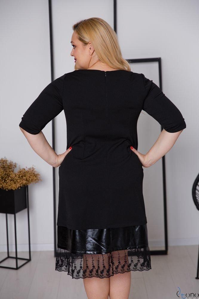 Czarna Sukienka GREVIA Plus Size