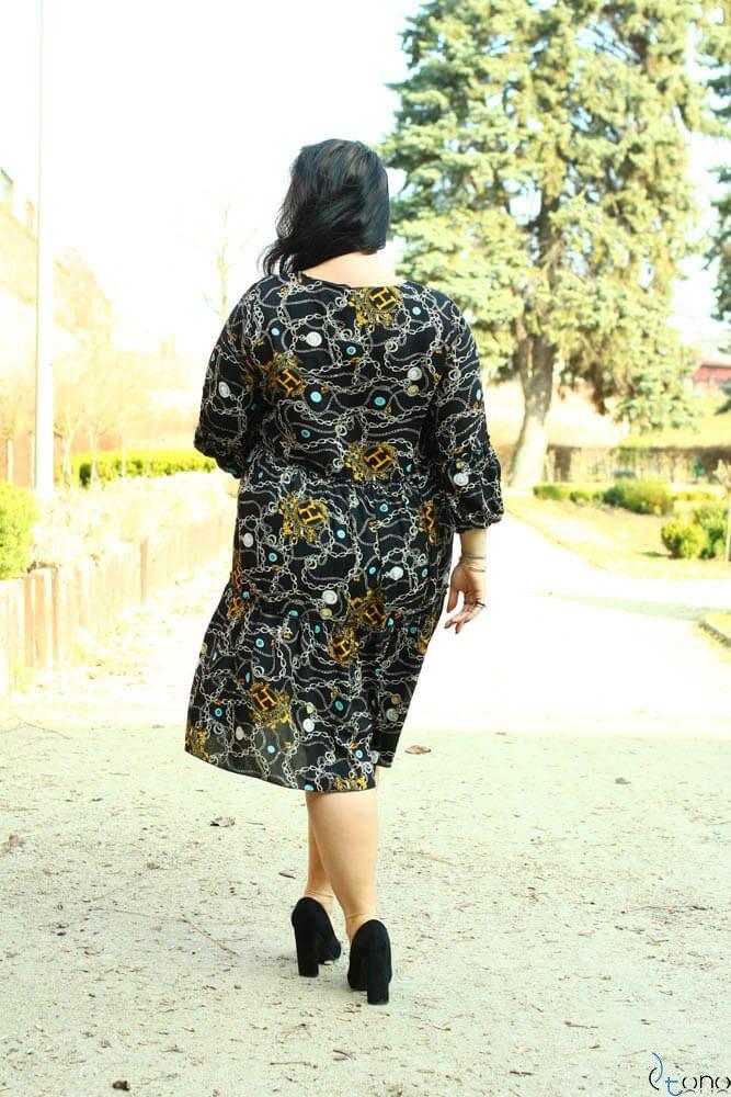 Czarna Sukienka KALINA Plus Size