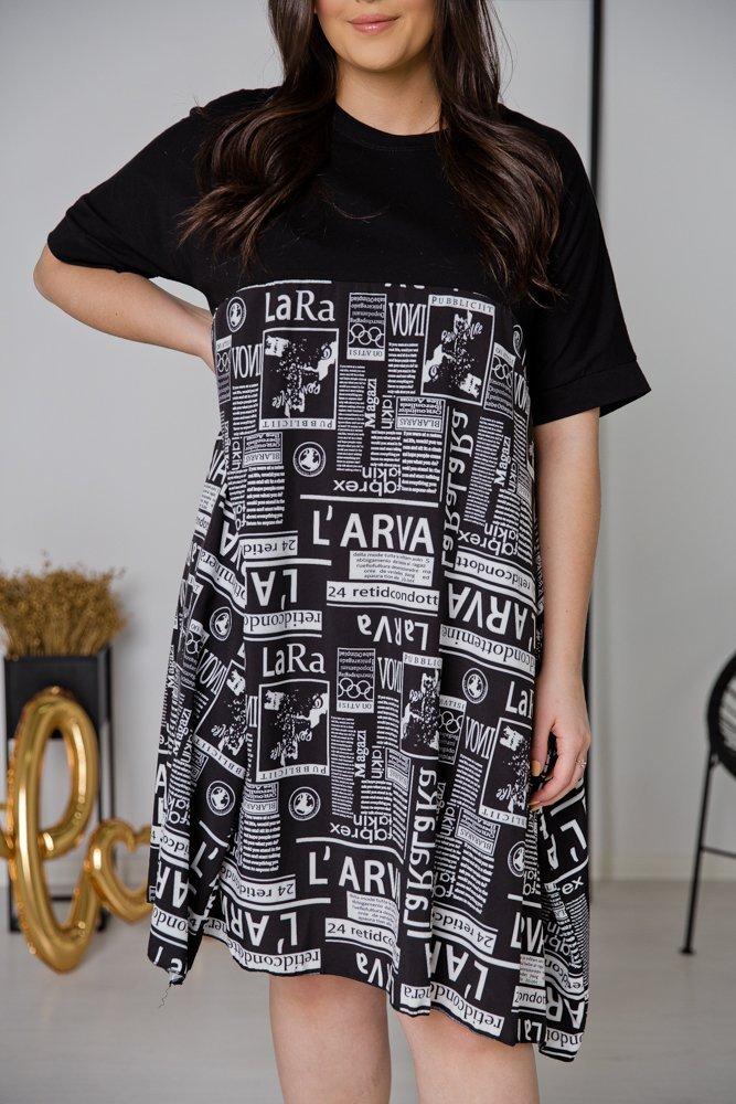 Czarna Sukienka PARENA Plus Size