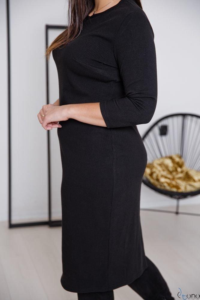 Czarna Sukienka PEZARO Plus Size
