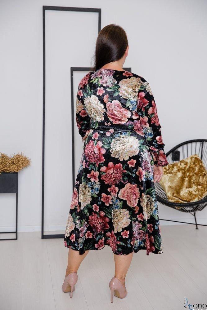 Czarna Sukienka RETTA Plus Size