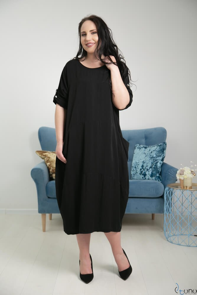 Czarna Sukienka SIMILLA Plus Size