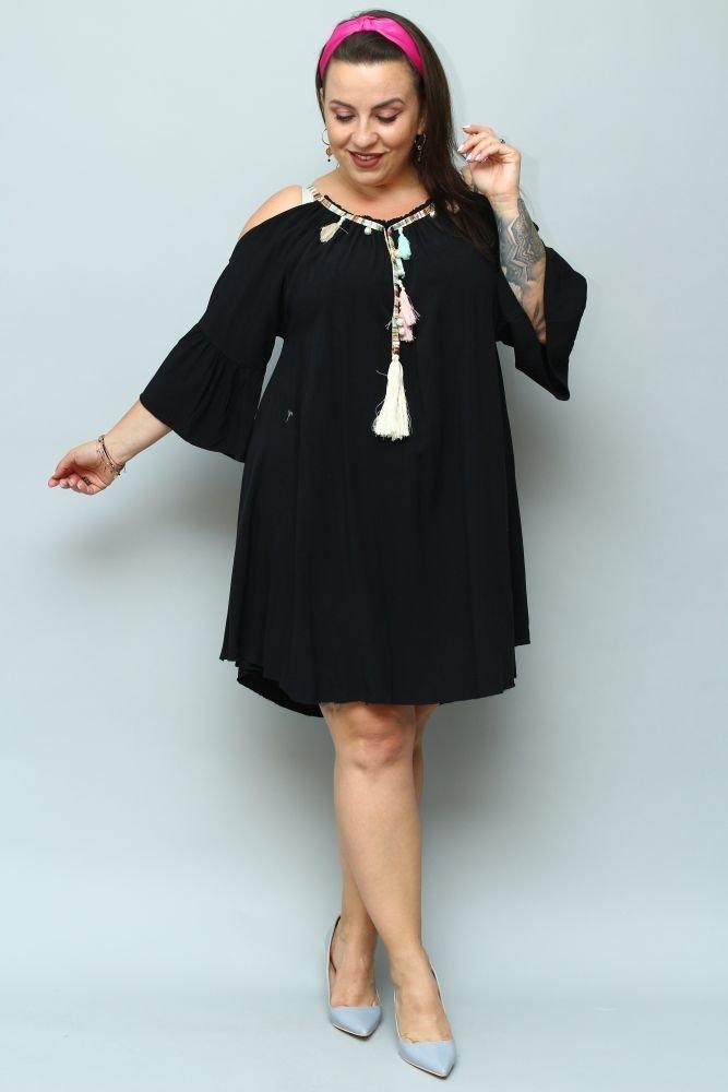 Czarna Sukienka SOLENA Plus Size