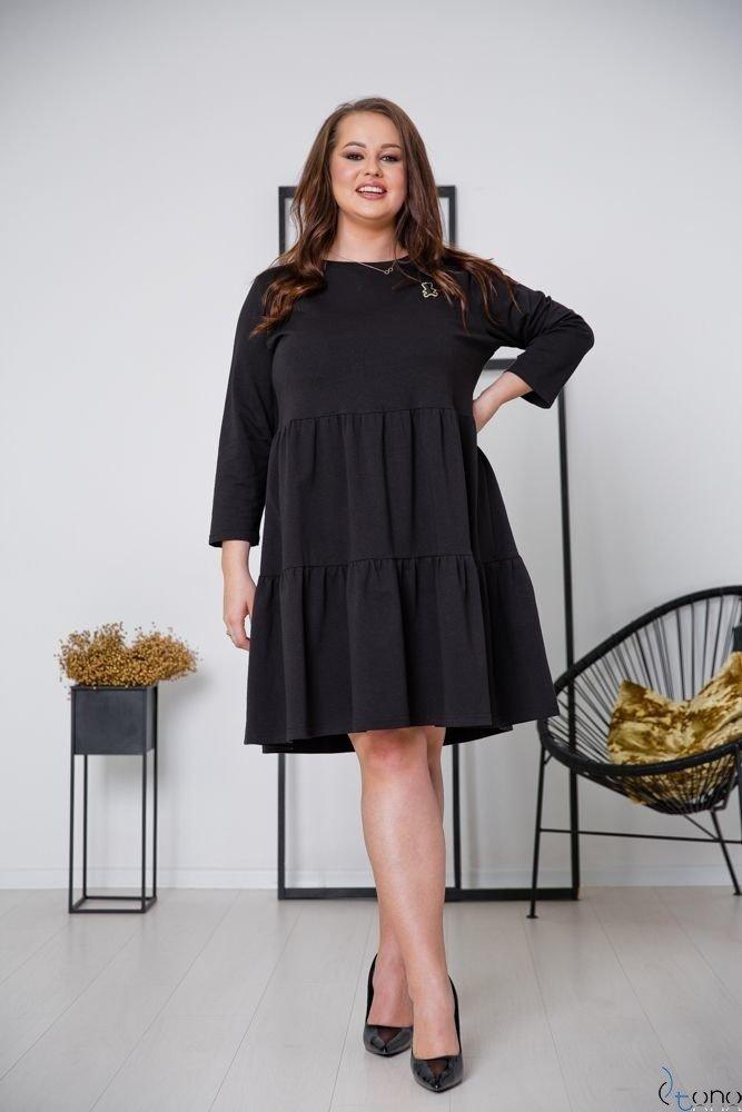 Czarna Sukienka SORRINA Plus Size