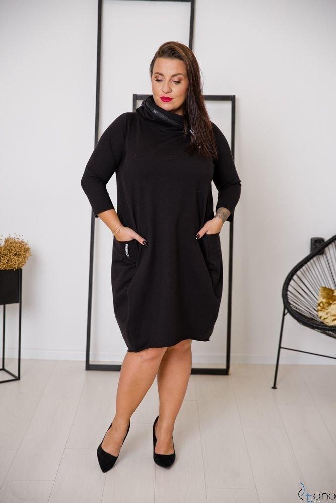 Czarna Sukienka STRALIS Plus Size