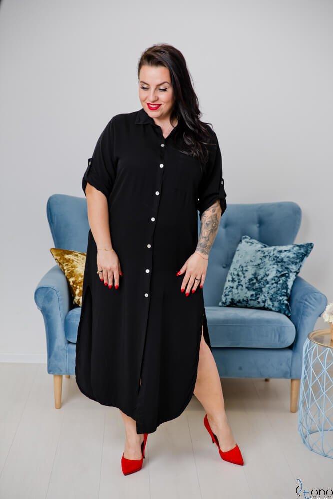 Czarna Sukienka SUCESIA Plus Size