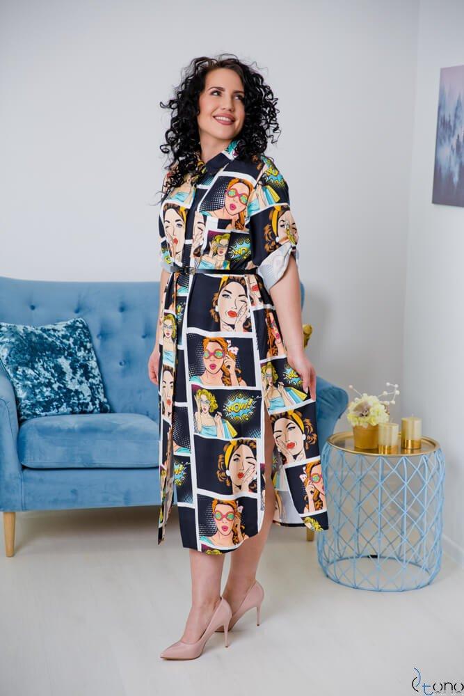 Czarna Sukienka TUNES Plus Size
