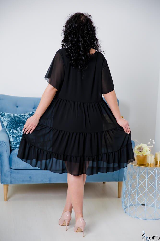 Czarna Sukienka VENYS Plus Size