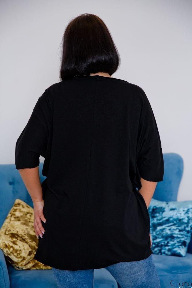 Czarna Tunika BOUNCE Plus Size