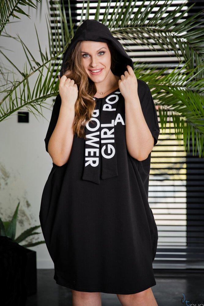 Czarna sukienka CURVY GANG Plus Size