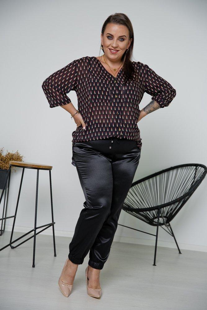 Czarne Dresowe spodnie RICKY Plus Size