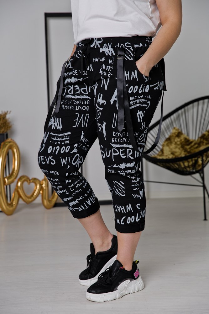 Czarne Spodnie ADINA Plus Size