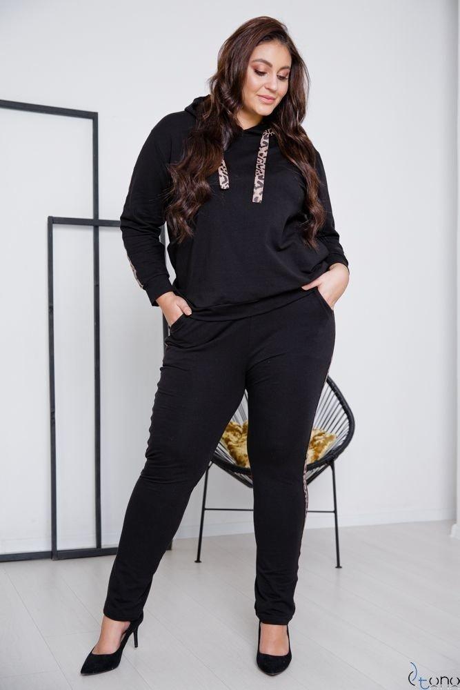 Czarne Spodnie COLECT Plus Size