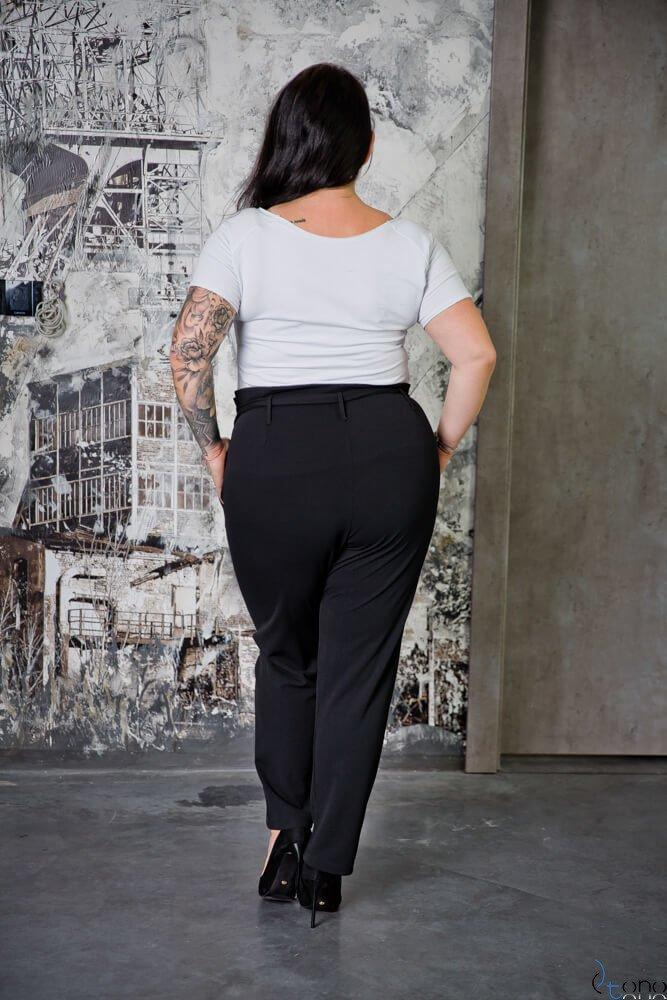 Czarne Spodnie FONDA Plus Size