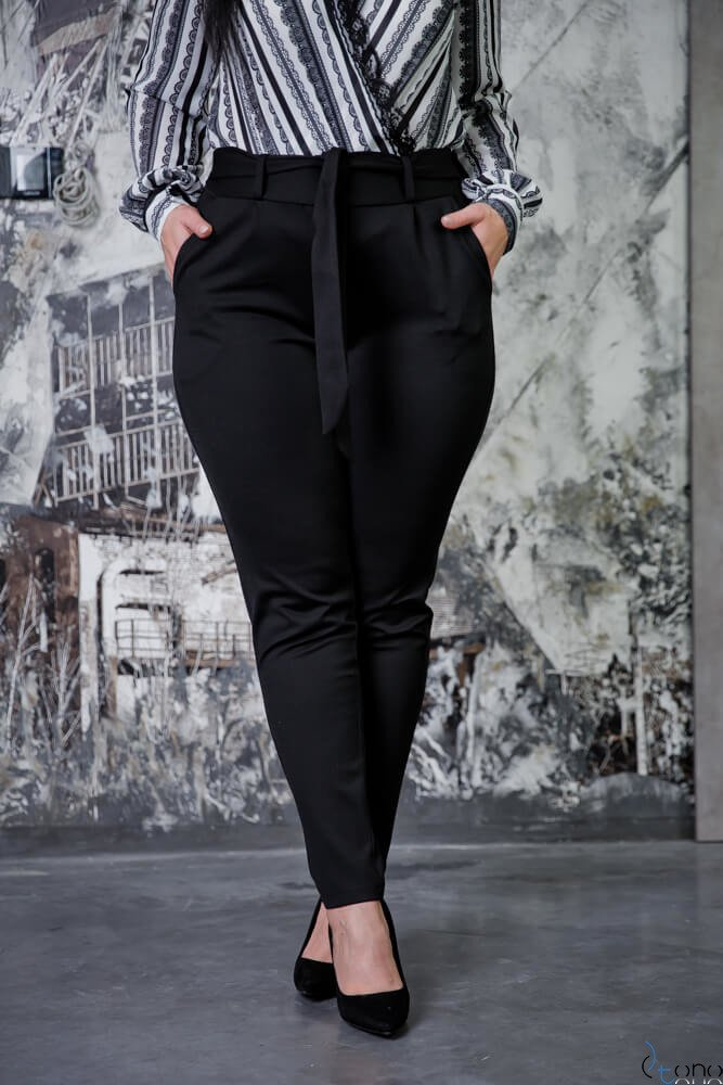 Czarne Spodnie LOREGIO Plus Size