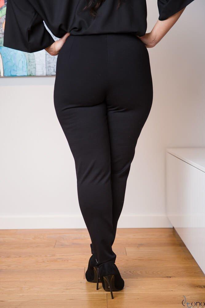Czarne Spodnie RIGES Plus Size