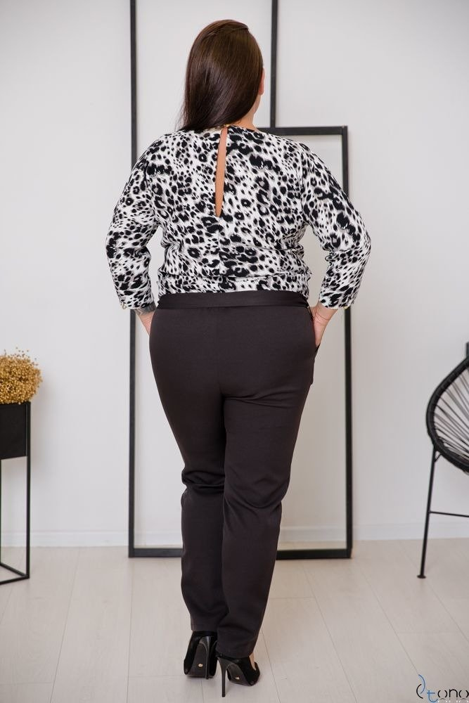Czarno-Biały Kombinezon RIPASO Plus Size