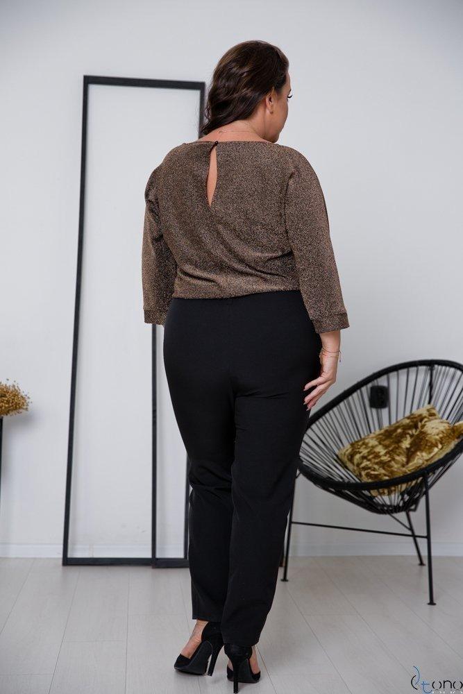Czarno-Złoty Kombinezon RIPASO Plus Size