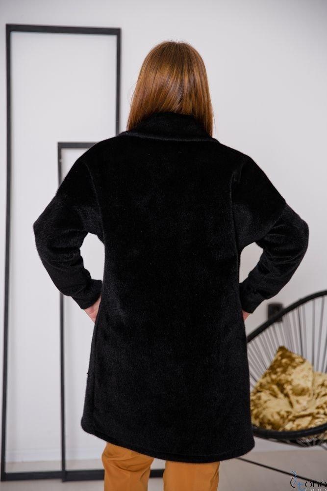 Czarny Płaszcz BARIOSA Plus Size
