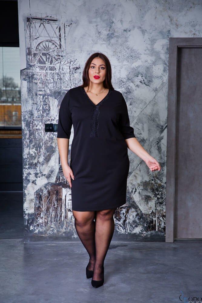 Czarny Sukienka NARIZ Plus Size