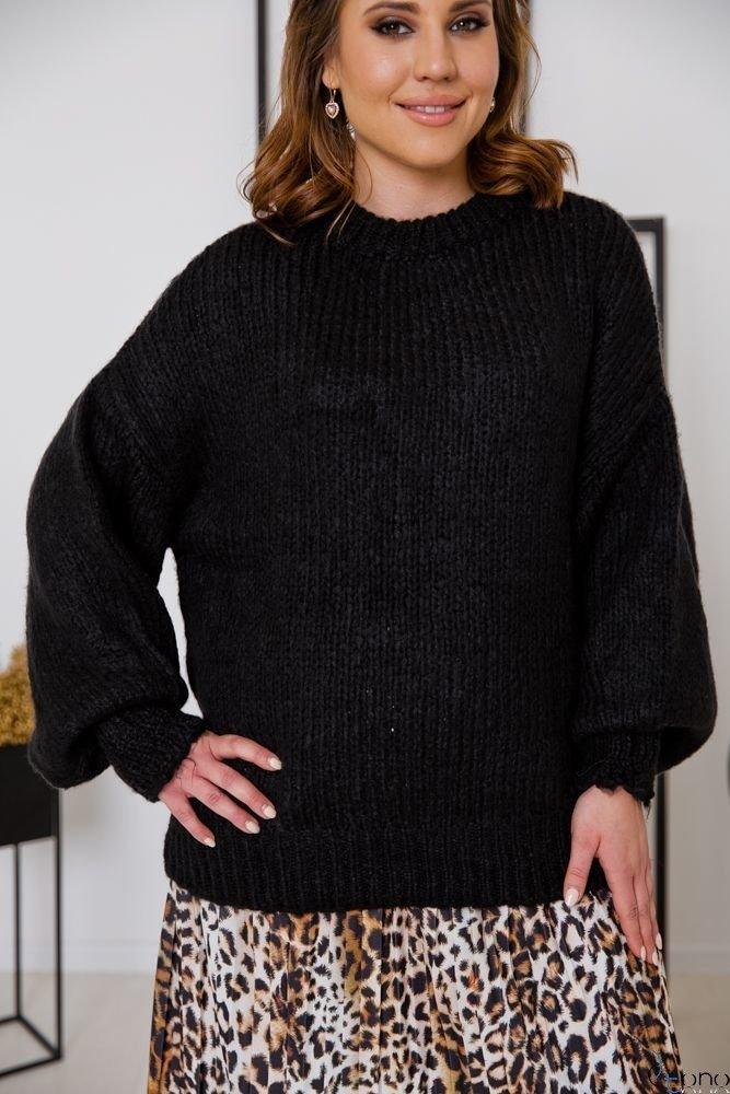 Czarny Sweter BAFFY Plus Size