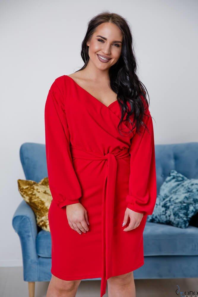 Czerwona Sukienka ASHLEY Plus Size