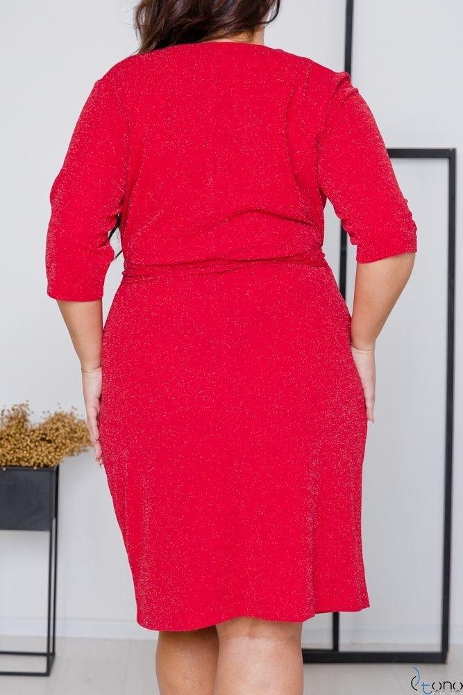 Czerwona Sukienka  SOMIER Plus Size