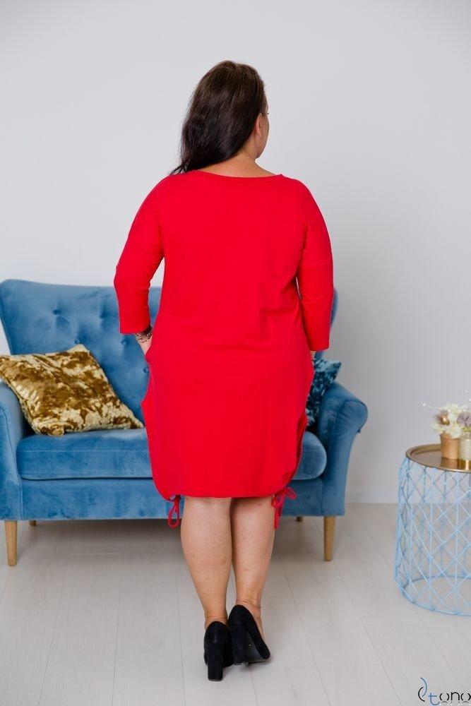 Czerwona Tunika CLIMMA Plus Size Wzór 2