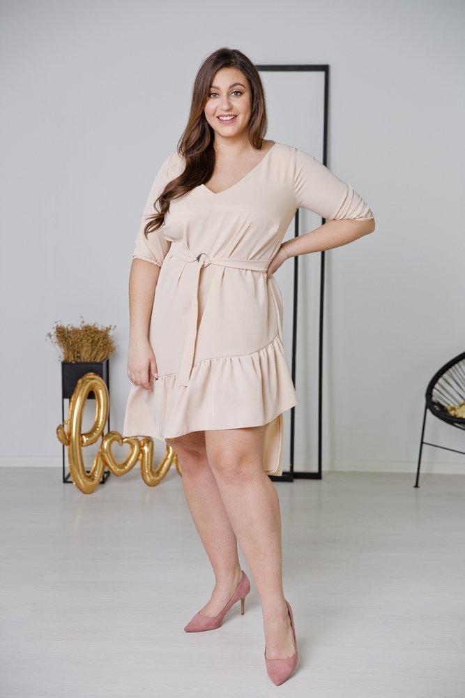 Ecru Sukienka ELENA Plus Size