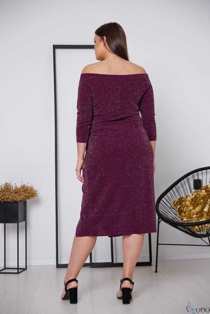 Fioletowa Sukienka SISIE Plus Size
