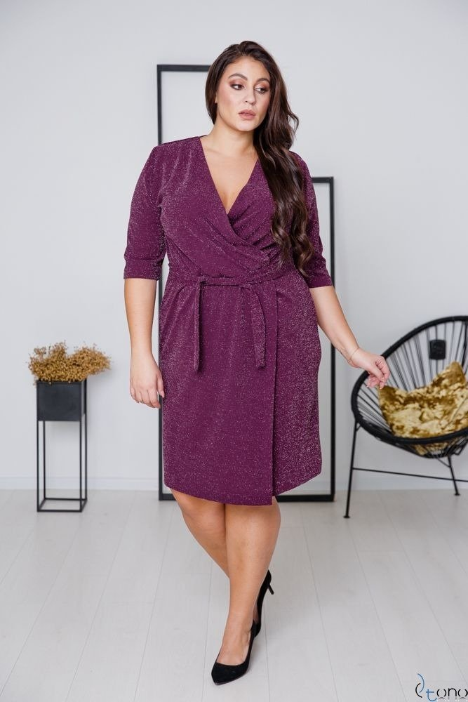 Fioletowa Sukienka  SOMIER Plus Size