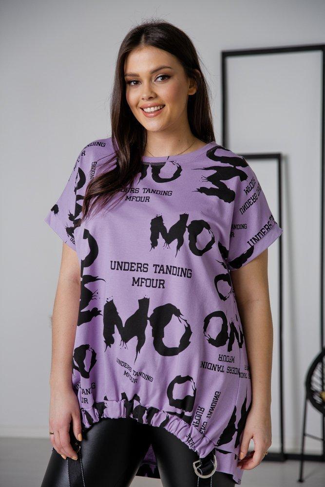 Fioletowa Tunika MOMO Plus Size