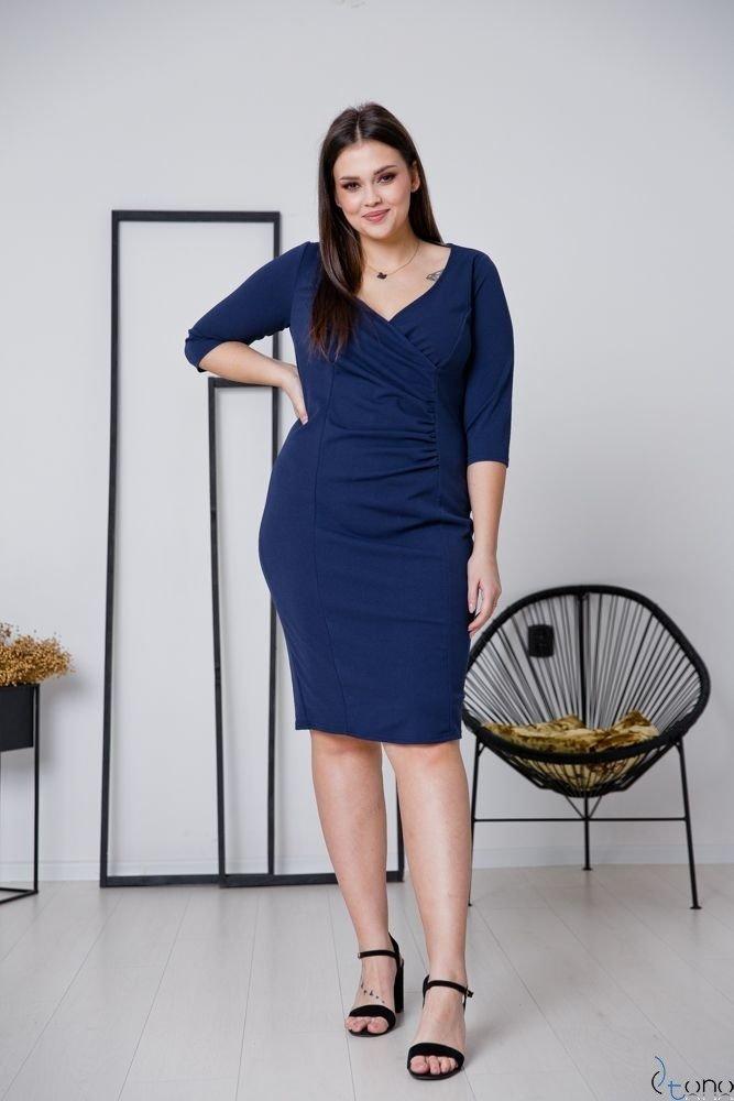 Granatowa Sukienka DEFINA Plus Size