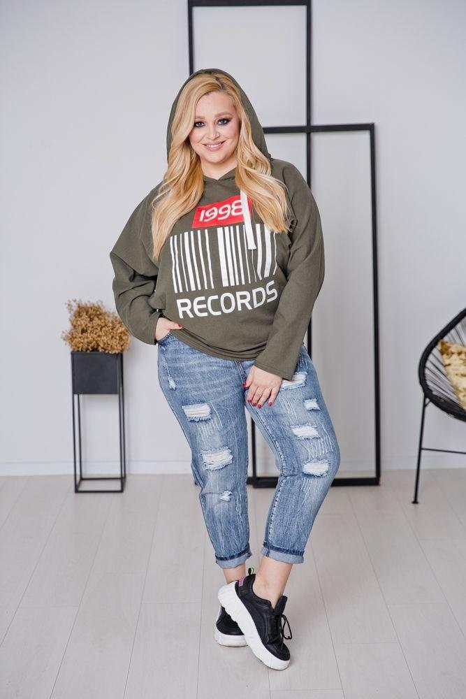 Khaki Bluza NOSTALGIA Plus Size