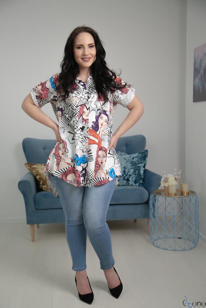 Koszula ALESSIA Plus Size Wzór 4