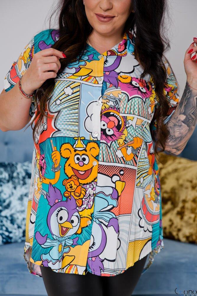 Koszula ALESSIA Plus Size Wzór 5