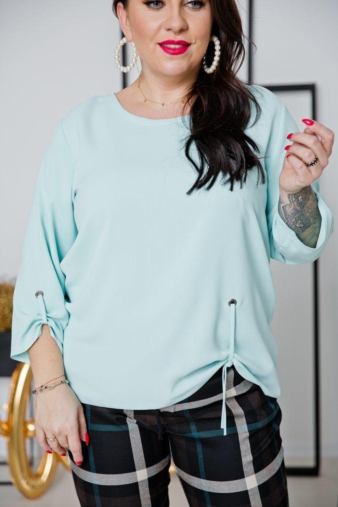 Miętowa Bluzka LOVIA Plus Size