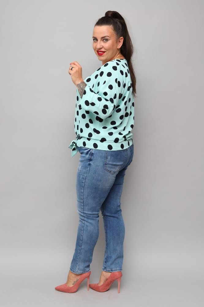 Miętowa Bluzka PANEA Plus Size