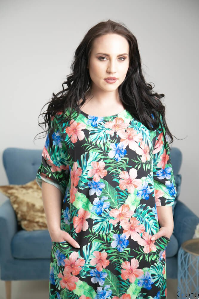 Multikolorowa Sukienka MARIBEL Plus Size