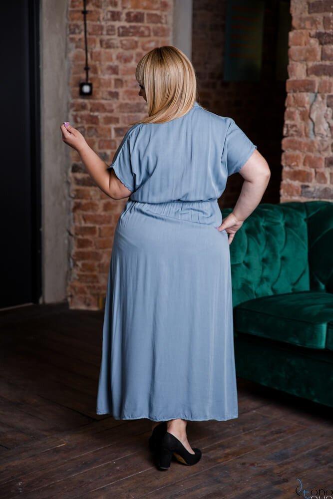 Niebieska Sukienka PALO Plus Size