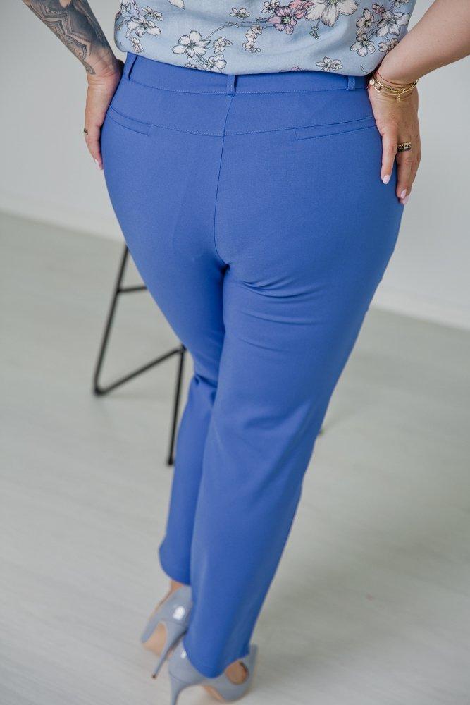Niebieskie Spodnie VIZON Plus Size