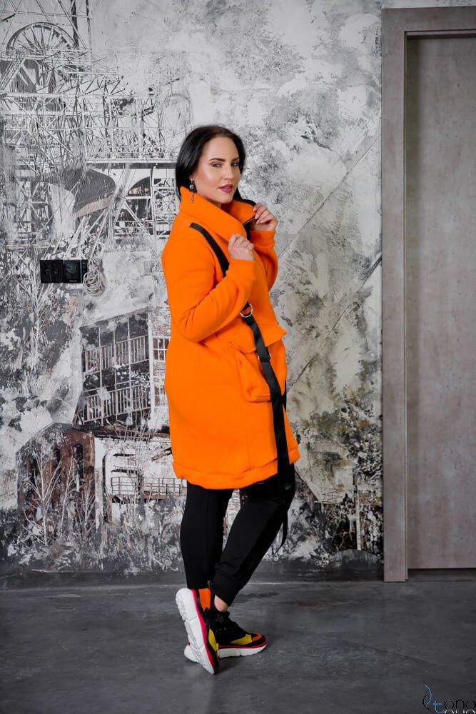 Pomarańczowa Bluza OLVIDA Plus Size Casual