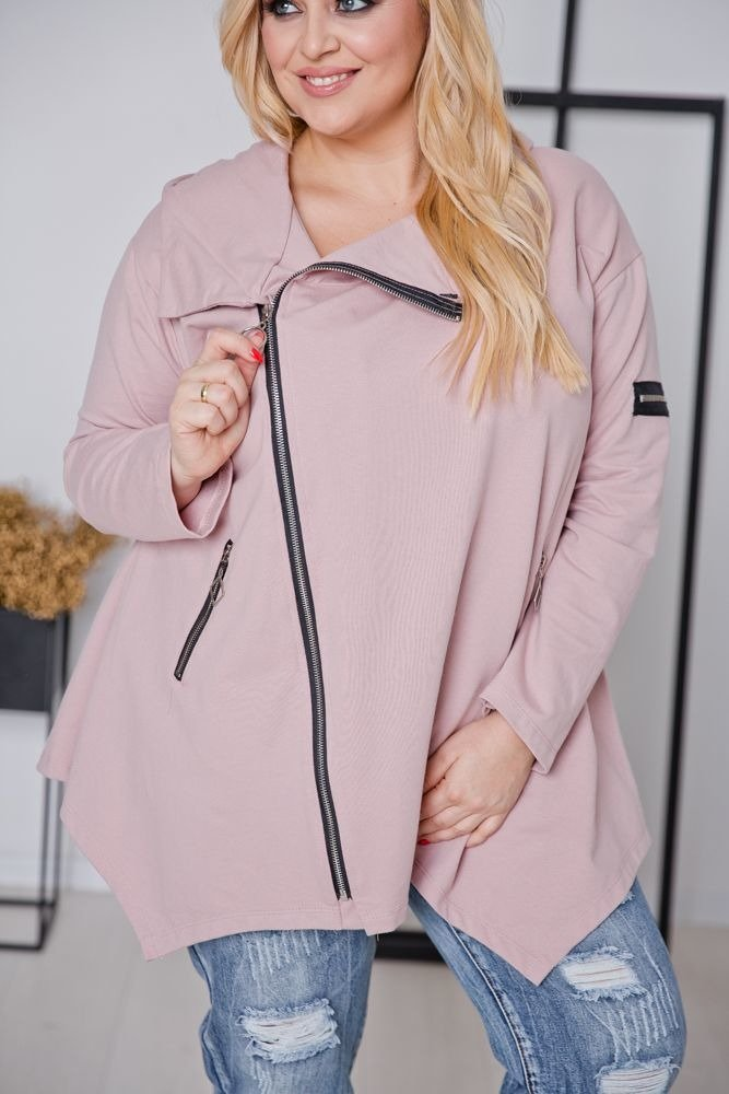 Różowa Bluza ONEA Plus Size