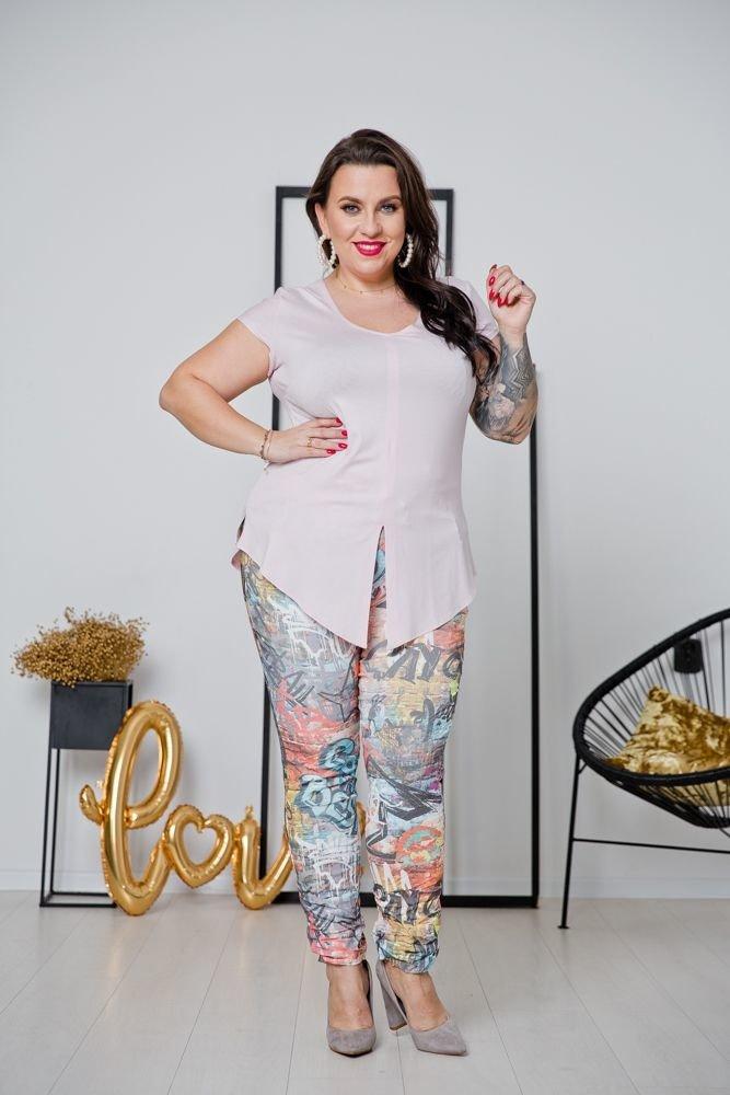 Różowa Bluzka ALMENA Plus Size