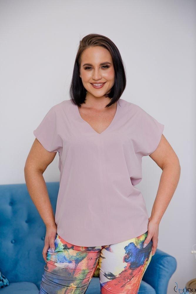 Różowa Bluzka COVER Plus Size