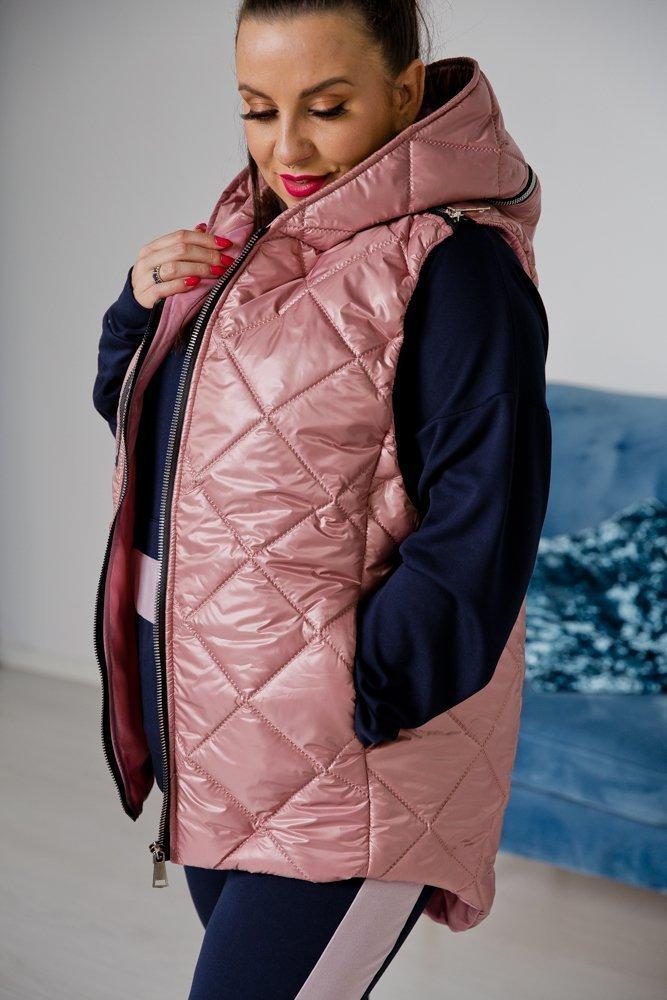 Różowa Kamizelka PIKI Plus Size