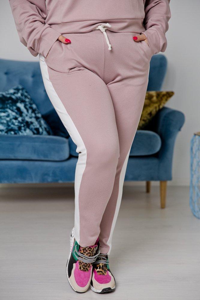 Różowo-biały Dres VASANTA Plus Size